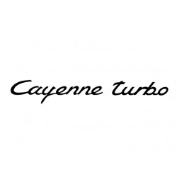 Cayenne Turbo Decal